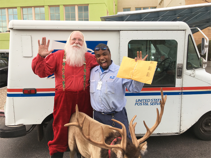 Santa with Mailman